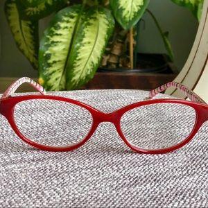 Red Eyewear reading glasses +1.25 strength w/ case